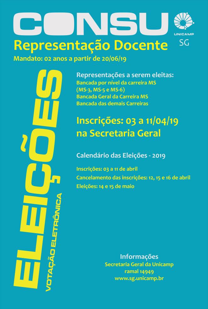 CONSU - Representação Docente - Eleições 14 e 15 de Maio